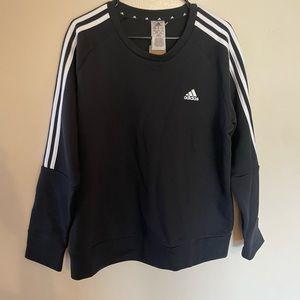 Black Adidas Fleece Sweatshirt